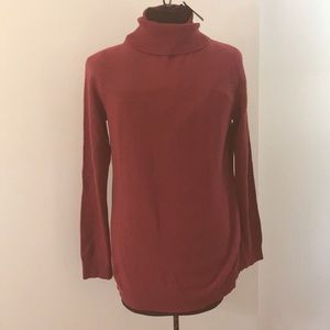 NWT!!Ann Taylor 100% Red Cashmere Sweater Size XL.